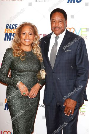 US former baseball player Dave Winfield and wife Tonya Turner arrive for the 26th Annual Race To Erase MS Gala at The Beverly Hilton Hotel, in Beverly Hills, California, USA, 10 May 2019. The gala raises money for Race To Erase MS and its center without walls program.
