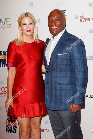 Jennifer Lucas and husband US comedian Byron Allen arrive for the 26th Annual Race To Erase MS Gala at The Beverly Hilton Hotel, in Beverly Hills, California, USA, 10 May 2019. The gala raises money for Race To Erase MS and its center without walls program.