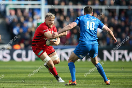 Jackson Wray of Saracens and Johnny Sexton (Captain) of Leinster