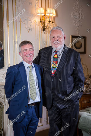 Stock Image of Terry Waite and John McCarthy meet for the first time in over 20 years