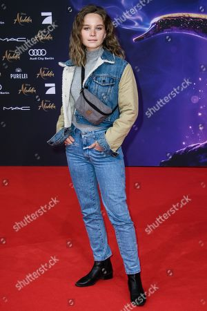 Sonja Gerhardt attends the Aladdin gala screening in Berlin, Germany, 11 May 2019. Aladdin screens in German cinemas from 23 May 2019.