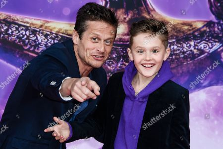 Stock Photo of Roman Knizka (L) and his son Leo attend the Aladdin gala screening in Berlin, Germany, 11 May 2019. Aladdin screens in German cinemas from 23 May 2019.