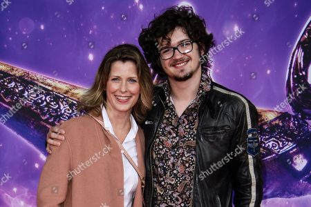 Stock Picture of Valerie Niehaus (L) and her son attend the Aladdin gala screening in Berlin, Germany, 11 May 2019. Aladdin screens in German cinemas from 23 May 2019.