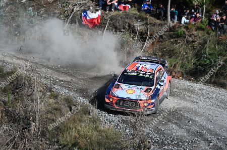 French Sebastien Loeb drives his Hyundai i20 Coupe WRC, RC1  during the second stage of the 2019 Rally Chile in Concepcion, Chile, 11 May 2019.