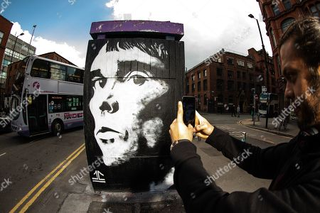 Editorial photo of Ian Brown mural, Manchester, UK - 11 May 2019