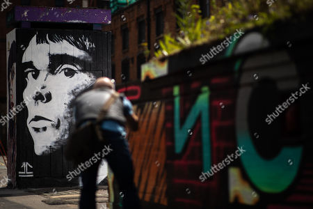 Editorial picture of Ian Brown mural, Manchester, UK - 11 May 2019