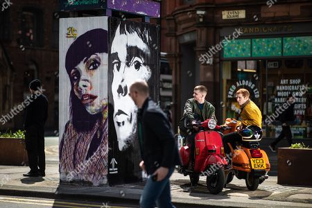 Editorial image of Ian Brown mural, Manchester, UK - 11 May 2019