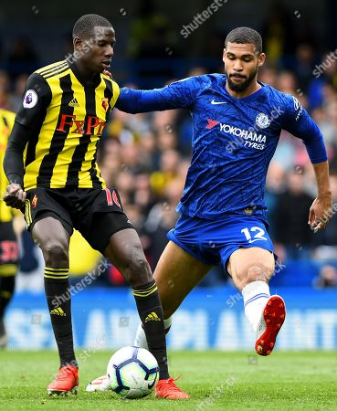 Abdoulaye Doucoure of Watford and Ruben Loftus-Cheek of Chelsea