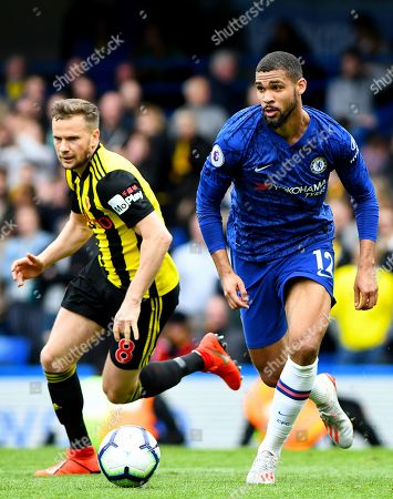 Ruben Loftus-Cheek of Chelsea and Tom Cleverley of Watford