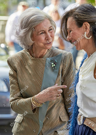 Former Queen Sofia and Ana Patricia Botin