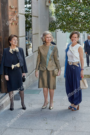 Stock Picture of Paloma O'Shea, Former Queen Sofia and Ana Patricia Botin