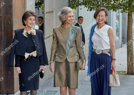 Stock Photo of Paloma O'Shea, Former Queen Sofia and Ana Patricia Botin