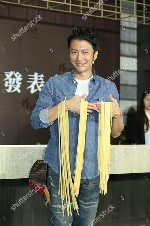Editorial image of Nicholas Tse promotes his self-created noodles, Taipei, Taiwan - 08 May 2019