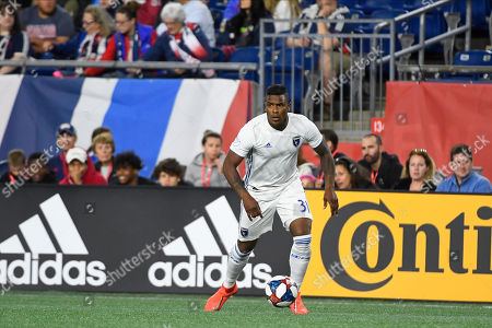 San Jose Earthquakes defender Harold Cummings (31) in action during the MLS game between San Jose Earthquakes and the New England Revolution held at Gillette Stadium in Foxborough Massachusetts. Boston defeats San Jose 3-1