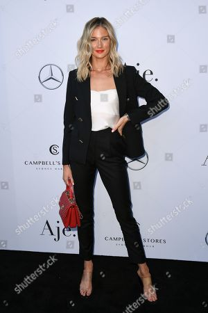 Amy Pejkovic attends the Aje show during the Mercedes-Benz Fashion Week Australia in Sydney, 12 May 2019. The fashion event runs from 12 to 17 May.