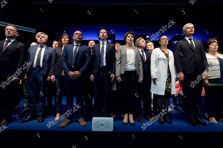 Editorial image of Republicans and New Centre Meeting for the European Elections, Besancon Congress Centre, France - 11 May 2019