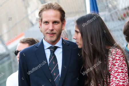 Andrea Casiraghi with his wife Tatiana Santo Domingo