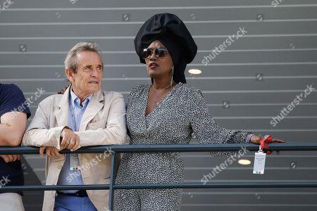 Jacky Ickx and his wife Khadja Nin