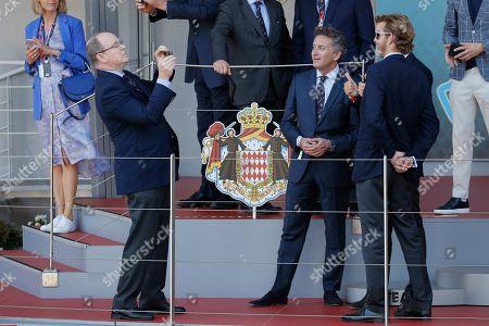 Prince Albert II of Monaco, Alejandro Agag, Pierre Casiraghi and Andrea Casiraghi