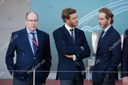 Prince Albert II of Monaco, Pierre Casiraghi and Andrea Casiraghi