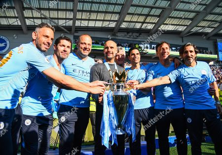 Editorial picture of Brighton and Hove Albion v Manchester City, Premier League, Football, American Express Community Stadium, Brighton, UK - 12 May 2019