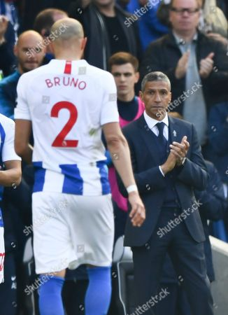Editorial photo of Brighton and Hove Albion v Manchester City, Premier League, Football, American Express Community Stadium, Brighton, UK - 12 May 2019