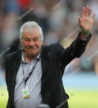Stock Image of Malcolm MacDonald inducted into Fulham legends at half time
