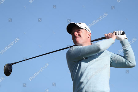 David Horsey of England tees off the 5th during Day Four of the Betfred British Masters at Hillside Golf Club