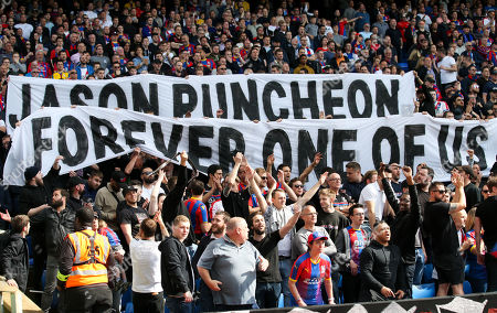 Palace supporters honour Jason Puncheon with a banner