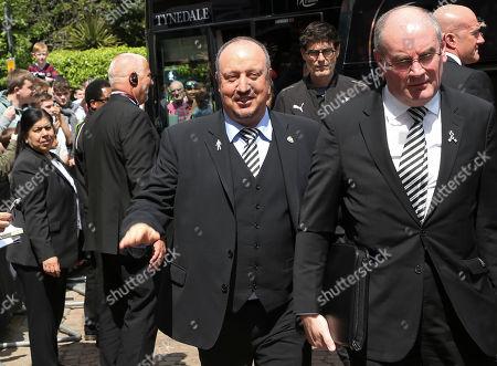 Rafa Benitez manager of Newcastle United arrives at Craven Cottage