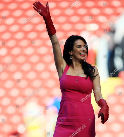 Linda Pizzuti the wife of Liverpool owner John W Henry at the end of the game