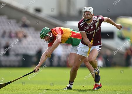 Galway vs Carlow. Galway's Jason Flynn with David English of Carlow