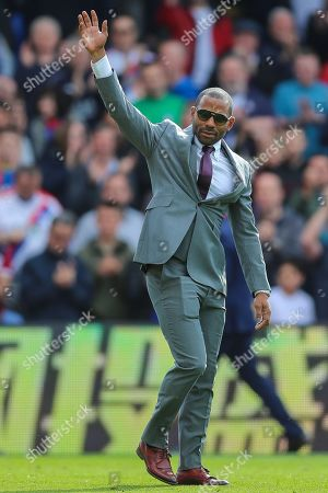 Crystal Palace midfielder Jason Puncheon (42) comes onto the pitch for his farewell ceremony after the Premier League match between Crystal Palace and Bournemouth at Selhurst Park, London