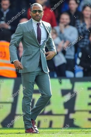 Stock Image of Crystal Palace midfielder Jason Puncheon (42) comes onto the pitch for his farewell ceremony after the Premier League match between Crystal Palace and Bournemouth at Selhurst Park, London
