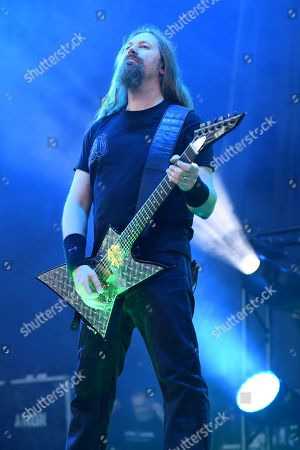 Editorial photo of Amon Amarth in concert at The Coral Sky Amphitheatre, West Palm Beach, Florida, USA  - 11 May 2019