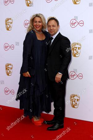 Hannah Walters, Stephen Graham. Actress Hannah Walters and partner, actor Stephen Graham, pose for photographers on arrival at the 2019 BAFTA Television Awards in London