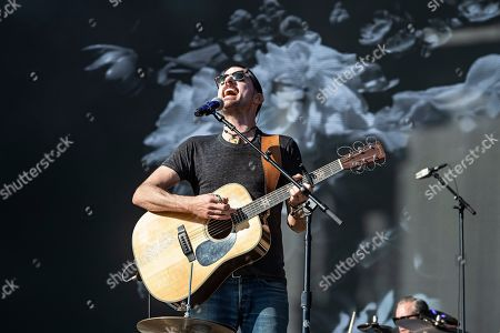 Seth Avett of The Avett Brothers performs on stage at KAABOO Texas at AT&T Stadium, in Arlington, Texas