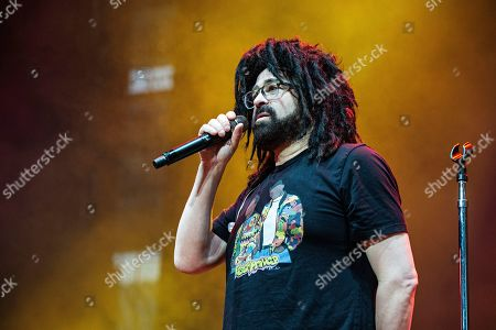 Adam Duritz of Counting Crows performs on stage at KAABOO Texas at AT&T Stadium, in Arlington, Texas