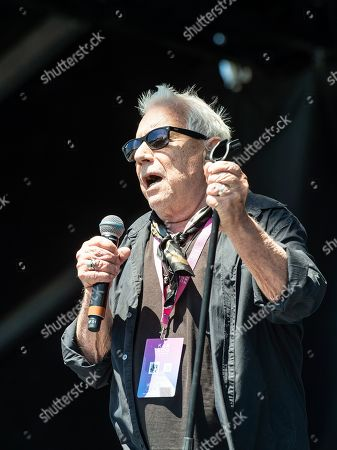 Stock Image of Eric Burdon and the Animals perform on stage at KAABOO Texas at AT&T Stadium, in Arlington, Texas