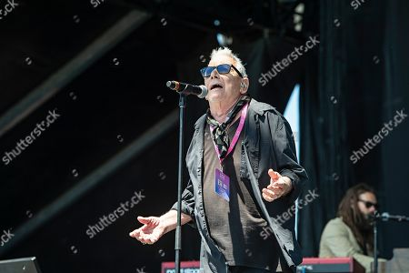 Eric Burdon and the Animals perform on stage at KAABOO Texas at AT&T Stadium, in Arlington, Texas