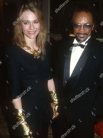 Peggy Lipton and Quincy Jones