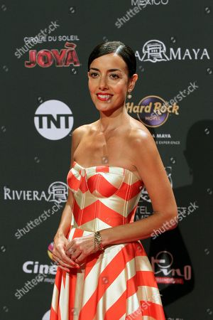Stock Picture of Cecilia Suarez arrives for the sixth edition of the Platino Awards at the Xcaret Park in Playa del Carmen, Riviera Maya, Mexico, 12 May 2019.
