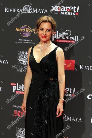 Marina de Tavira arrives for the sixth edition of the Platino Awards at the Xcaret Park in Playa del Carmen, Riviera Maya, Mexico, 12 May 2019.