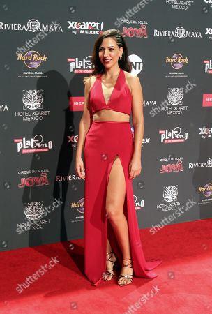 Alicia Rubio arrives for the sixth edition of the Platino Awards at the Xcaret Park in Playa del Carmen, Riviera Maya, Mexico, 12 May 2019.