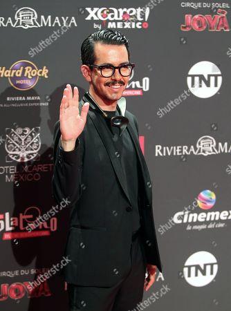 Manolo Caro arrives for the sixth edition of the Platino Awards at the Xcaret Park in Playa del Carmen, Riviera Maya, Mexico, 12 May 2019.