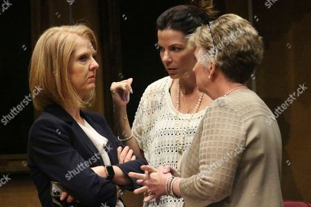 Stock Image of Arizona Sen. Heather Carter, from left, chats with Sen. Michelle Ugenti-Rita, center, and Sen. Kate Brophy McGee during a break in the Arizona Senate in Phoenix. Carter and fellow Republican, Rep. John Allen, are facing off over competing proposals to regulate tobacco and vaping products