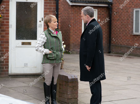 Ep 9777 Wednesday 22nd May 2019 - 2nd Ep Sally Metcalfe, as played by Sally Dynevor, takes her horse riding to the next level splashing out on all the expensive kit after Nick Tilsley, as played by Ben Price, gives her some money to look after the factory whilst he is away with the family.