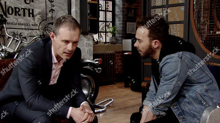 Ep 9773 Friday 17th May 2019 - 2nd Ep Nick Tilsley, as played by Ben Price, and David Platt, as played by Jack P Shepherd, panic, aware that if the police go through their bank accounts, they will want to know how they acquired such a large some of cash.