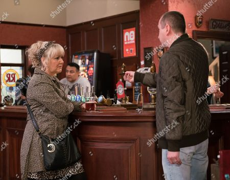Ep 9770 Wednesday 15th May 2019 - 1st Ep When Kirk Sutherland, as played by Andy Whyment, confirms he's meeting the talent scout for lunch, Beth Tinker's, as played by Lisa George, suspicious of her motives. When an excited Kirk tells Beth that the talent scout wants to sign him up for a 6 weeks tour, Beth studies the business card and realises they're looking for comedy acts.