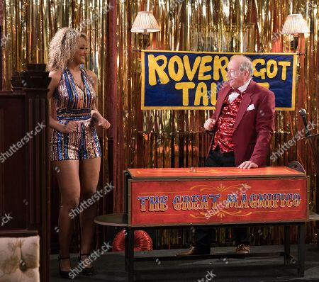 Ep 9769 Monday 13th May 2019 - 2nd Ep The talent context is a roaring success with Geoff Metcalfe, as played by Ian Bartholomew, and Emma Brooker's, as played by Alexandra Mardell, lady in a box acta and Evelyn's portrait painting but Beth is embarrassed by Kirk Sutherland's self penned song about life in packing. Which act will get the most votes.